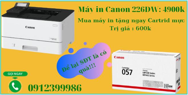 Máy in Canon LBP 226dw (khổ A4 + In đảo mặt/ WiFI)