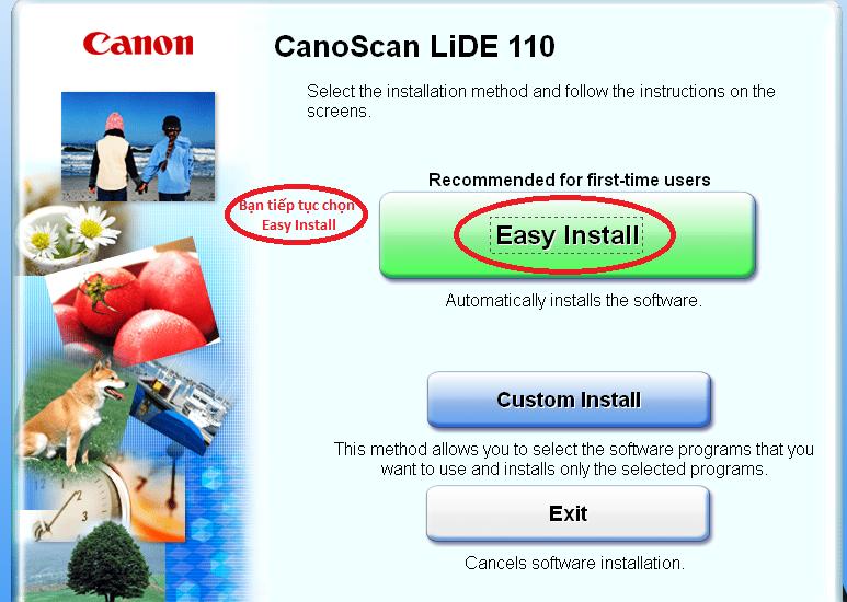 Hướng dẫn cài đặt máy scan Canon lide